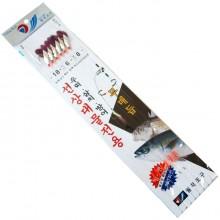 (월척조구)선상대물전용채비(우럭/열기/삼치/방어)무매듭/회전구슬 사용