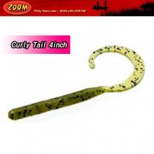(ZOOM)C-Tail(Curly Tail) 4인치/배스웜/스트레이트테일웜