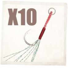 (다미끼)X10 엑스텐 지깅 어시스트훅