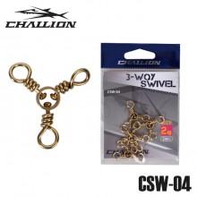 (챌리온)CSW-04 삼각도래 3-WAY 스위벨/돌돔도래