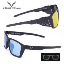 (브이쿨)VK2007 편광선글라스(변색렌즈) 골드/블루(도수클립,바람막이포함) /썬글라스