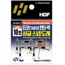 (해동)HA-639 타코 인터락 싱글 스냅도래/문어도래