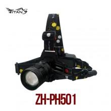 (타이탄)ZH-PH501 충전식 줌헤드랜턴(MAX 2700루멘) 18650전지1개 포함