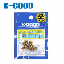 (K-GOOD)브래스 비드 싱커/봉돌